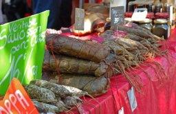 Embutidos corsos - Mercado de Ajaccio
