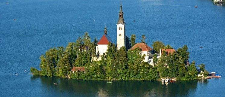 Isla del Lago de Bled. Iglesia de la Asunción