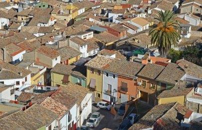 Casco histórico de Xàtiva desde Sant Josep