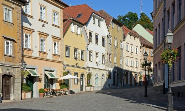 Liubliana. Ciudad Vieja. Calle Gornji