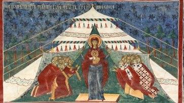 Monasterio Sucevita. Himno Acatisto. Virgen María y Niño