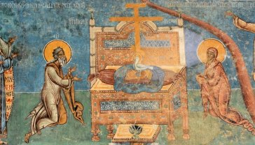 Monasterio de Voronet. Juicio Final. Espíritu Santo