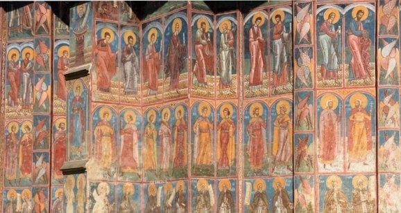 Monasterio Moldevita. Detalle Ábside y Fachada Meridional