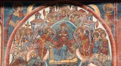 Monasterio de Humor. Detalle Himno Acatisto