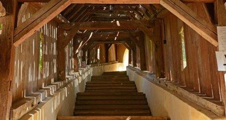 Biertan. Iglesia Fortificada. Escalera de los Escolares