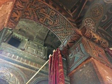 Frescos del interior del Templo de Bet Maryam