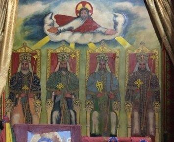 Reyes Etíopes represntados en el Templo de Bet Maryam