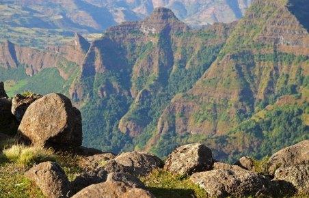 Montes Simien: Paisaje