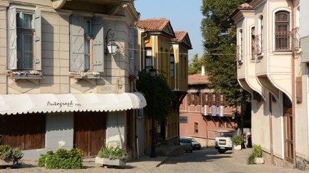 Plovdiv. Ciudad Vieja. Calle Yanuari