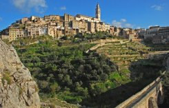 Vista de Bocairent desde el Via Crucis