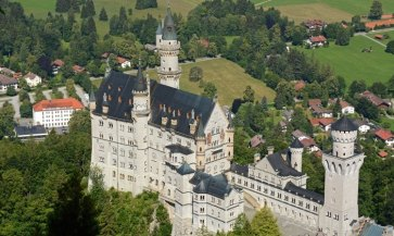 Castillo de Neuschwanstein desde Monte Tegelberg