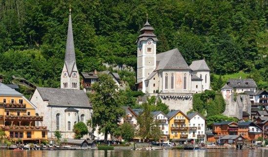 Hallstatt. Iglesias Protestante y Católica