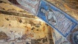 Frescos en Qusayr Amra