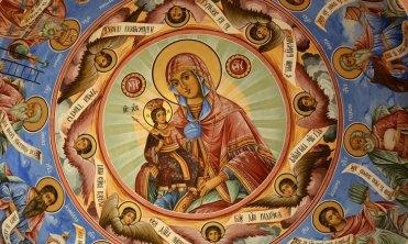 Monasterio de Rila. Fresco de la Virgen