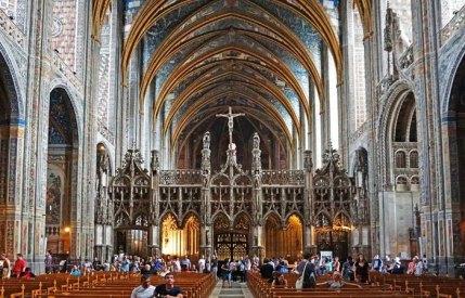 El Coro con su preciosa portada gótica