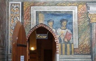 "Frescos ""italianizantes"" del trascoro"