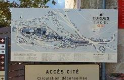 Plano de Cordes-sur-Ciel