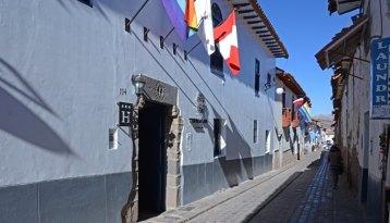 Calle del Carmen ALto. Hotel Tierra Viva San Blas