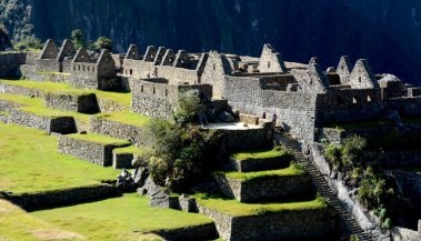 Machu Picchu. Plaza Central y Barrio Residencial