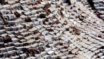 Salinas de Maras. Vista Aérea de las Piscinas de Decantación