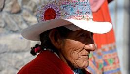 Valle del Colca. Chivay. Anciana
