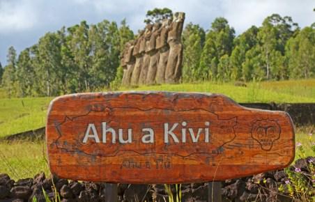 Ahu a Kivi pertenece al Parque Nacional Rapa Nui