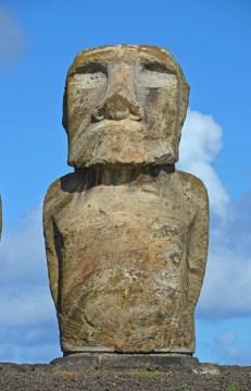 El moai más grande del grupo pesa 86 Ton.