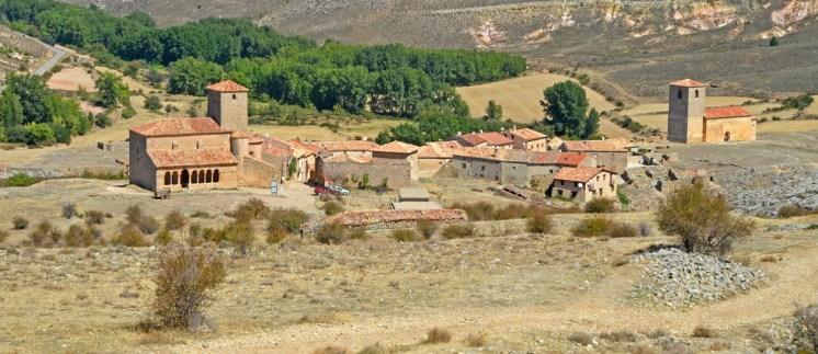 Vista de Caracena - Al fondo el cañón del río Caracena