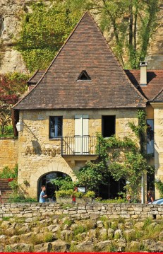La Roque-Gageac : Casa típica