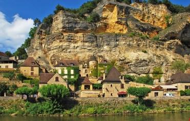 La Roque-Gageac : Pueblo y Risco