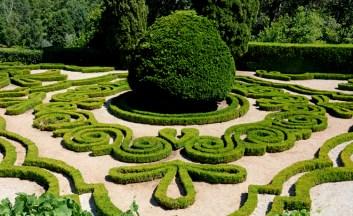 Palacio Mateus. Jardínes. Escudo