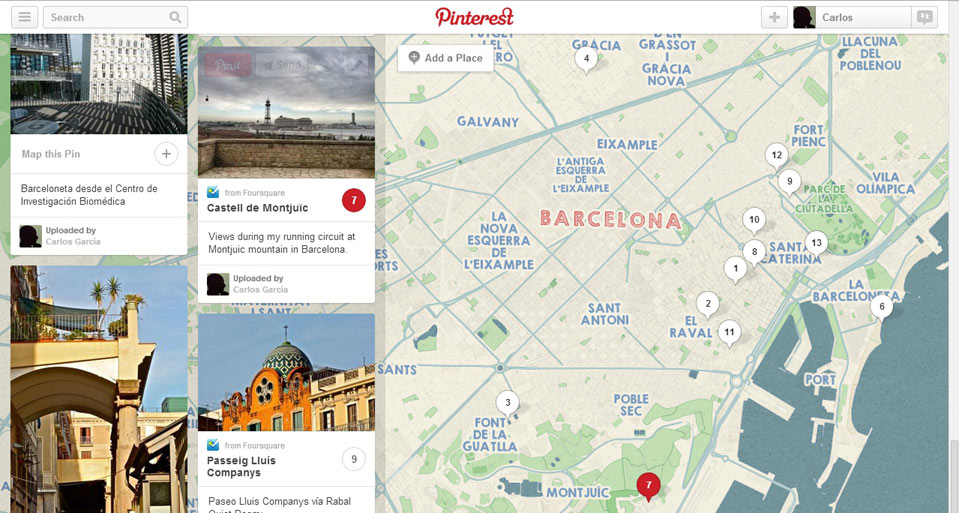 Mapas de Pinterest para apartamentos turísticos