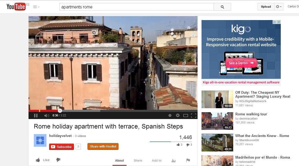 Youtube turístico: personal, cercano, de confianza y auténtico.