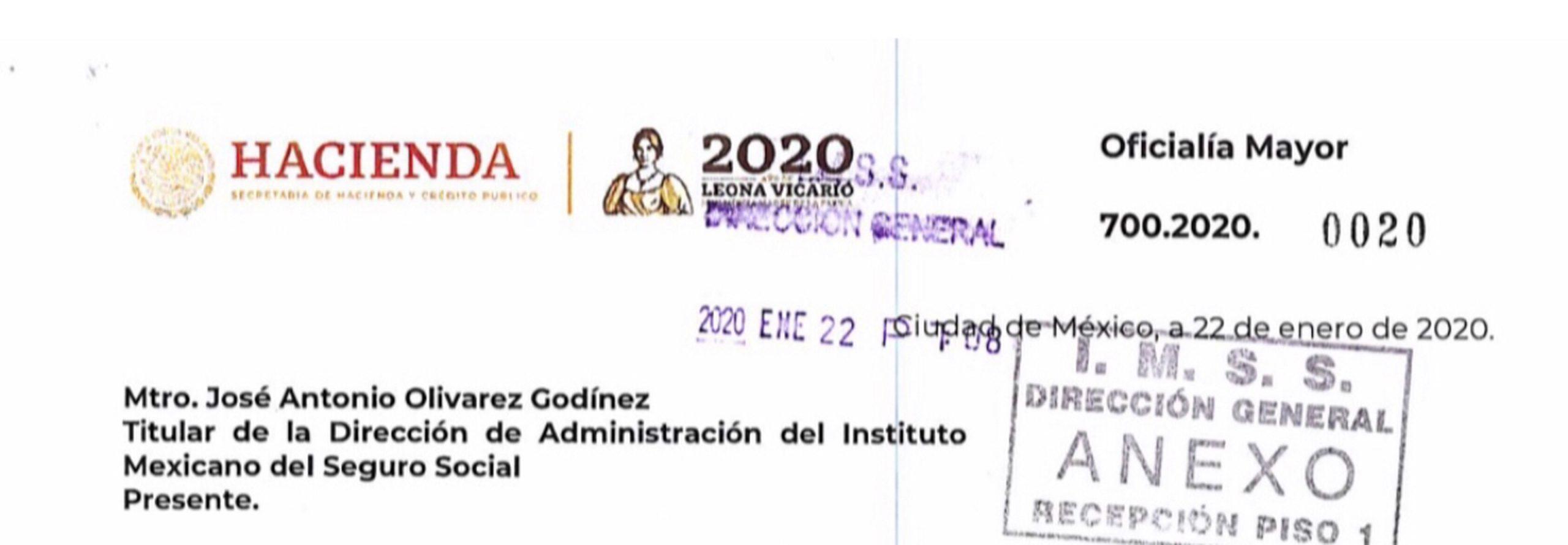 Documento oficial interno, el gobierno admite desabasto de medicamentos