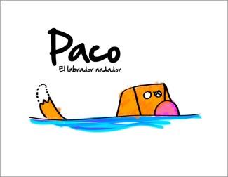 El labrador nadador. Ilustraciones para http://doctorpulgas.org/category/perros/aprendiendo-de-lola-y-paco/