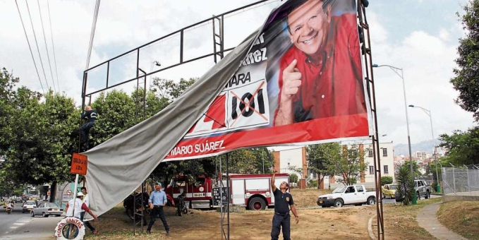 Contaminación visual, el mal ejemplo de la Alcaldía de Medellín