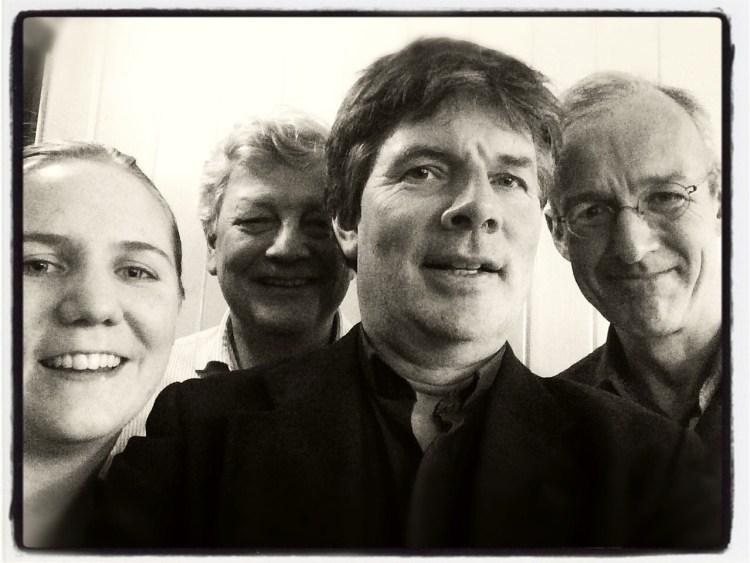 Carl Petter Opsahl Quartet. Svart hvitt bilde