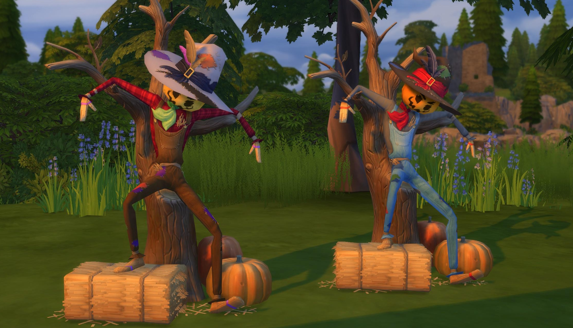 Sims 4 Seasons Patchy the Straw Man Scarecrow