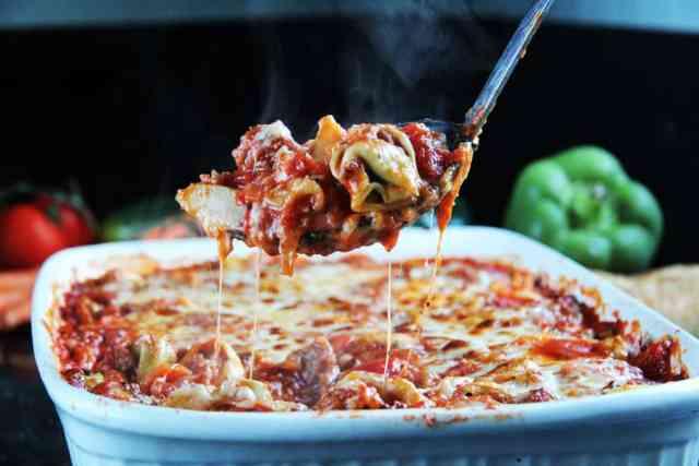 Cheesy Tortellini Ragu Veggie Al Forno (8)