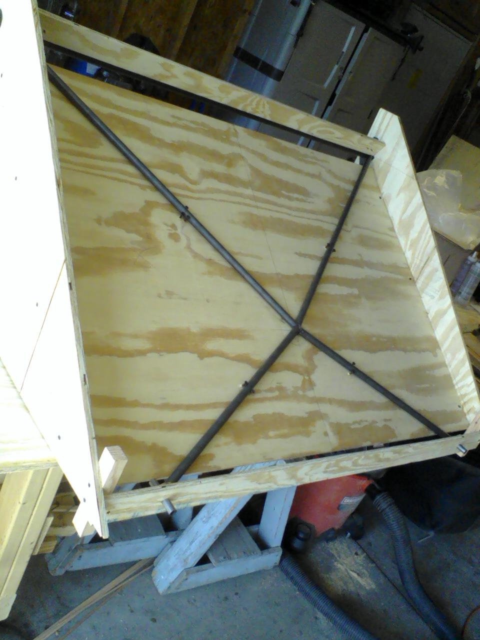 Windshield Frame in Jig