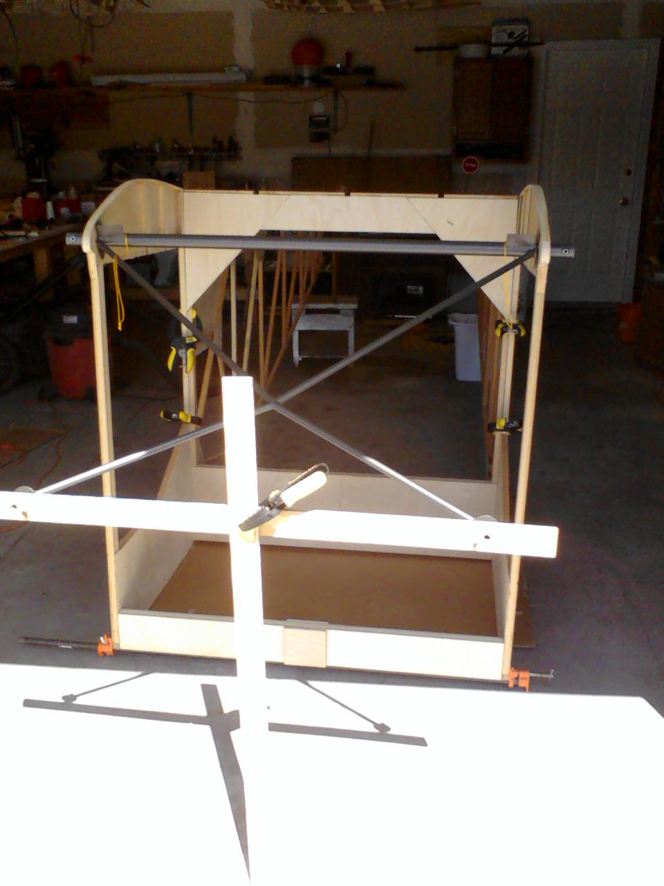 Windshield Frame in place