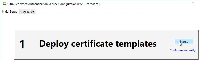Citrix federated authentication service saml 717 carl stalhood in step 1 deploy certificate templates click start yadclub