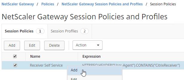 NetScaler Gateway 12 – ICA Proxy (StoreFront)
