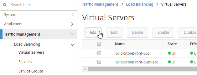 SSL Virtual Servers – NetScaler 12