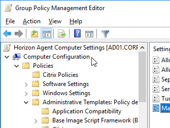 Horizon Group Policy and Profiles – Carl Stalhood
