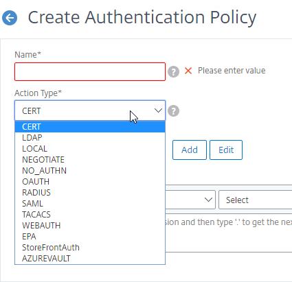 nFactor Authentication – NetScaler Gateway 12 / Citrix Gateway 12 1