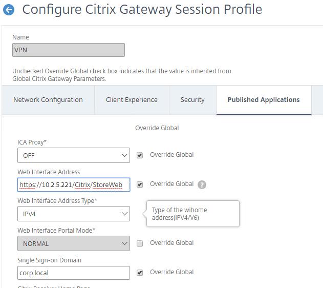 SSL VPN – NetScaler Gateway 12 / Citrix Gateway 12 1 – Carl