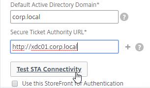 StoreFrontAuth and XenDesktop Wizard – NetScaler Gateway 12