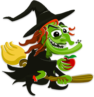 Image result for scary witch clipart