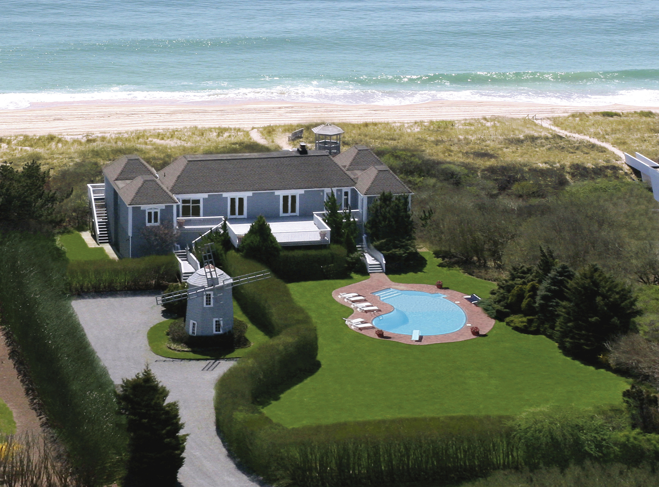 Carlton Chairman Howard L. Michaels Is Pleased To Announce That A Prime  Oceanfront Home In Bridgehampton, Ny, Where Former President Bill Clinton  And